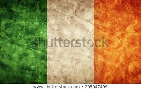 グランジ アイルランド フラグ 古い ヴィンテージ グランジテクスチャ ストックフォト © HypnoCreative