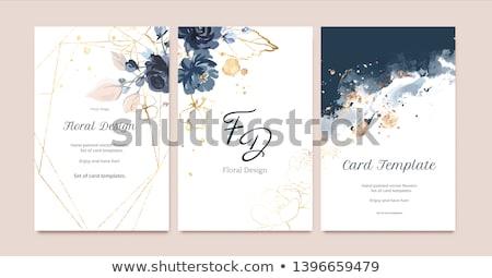 結婚式 テンプレート 単純な 結婚式招待状 周年記念 カード ストックフォト © elly_l