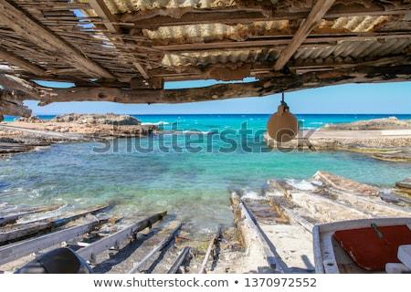 île coucher du soleil Espagne route mer océan Photo stock © arocas