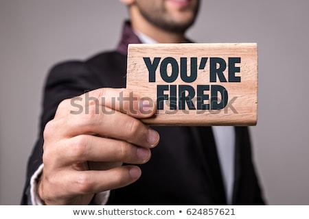 homem · olhando · zangado · empresário · executivo · branco - foto stock © lithian