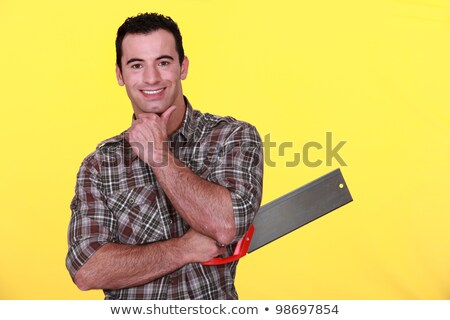 Man holding a backsaw Stock photo © photography33