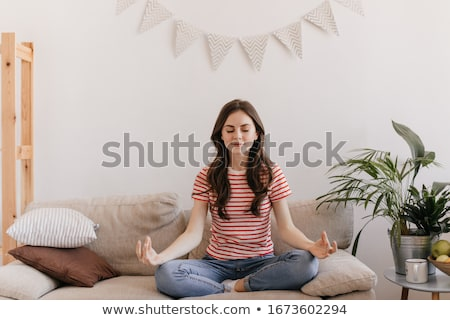 meditative young girl Stock photo © prill