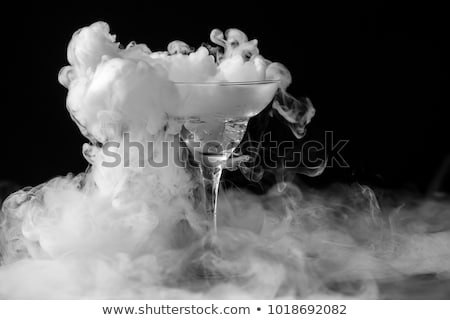 glass with dry ice stock photo © slavick