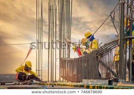 Hombre de trabajo forma trabajo guantes blanco Foto stock © shutswis