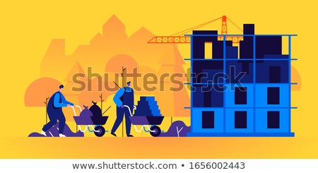 Workers with a wheelbarrow Stock photo © photography33