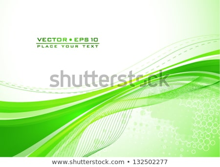 abstract green wave flayer Stock photo © rioillustrator