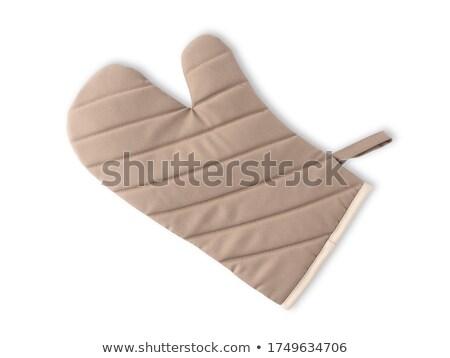 料理 手袋 白 女性 ホーム 青 ストックフォト © haiderazim