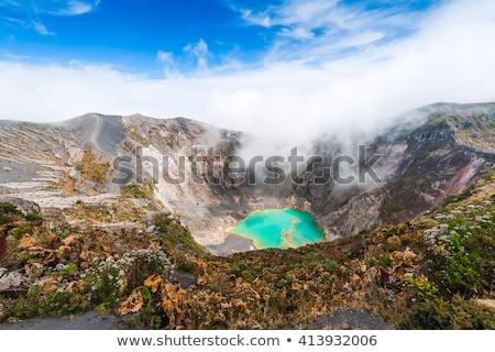 Vulkán sav tó felhők Costa Rica égbolt Stock fotó © Melpomene
