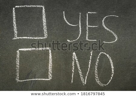 no concept words written with chalk on the green board stock photo © stevanovicigor