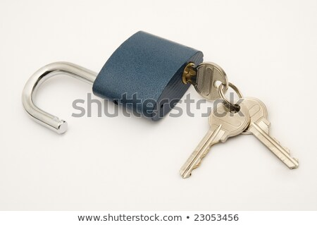 laiton · porte-clés · touches · isolé · blanche · métal - photo stock © a2bb5s