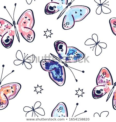 kelebek · sevmek · görüntü · iki · portre · güzel - stok fotoğraf © Kirschner