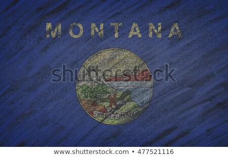 Pavillon Montana tableau noir peint craie Photo stock © vepar5