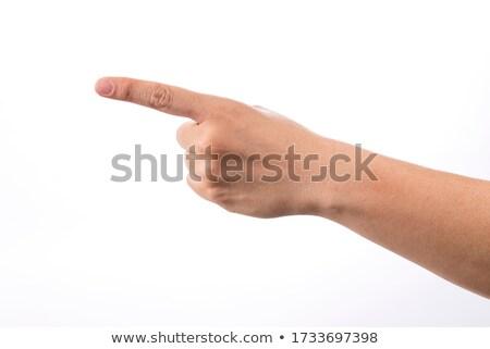 Dedo indicador empresário negócio gerente juiz Foto stock © velkol