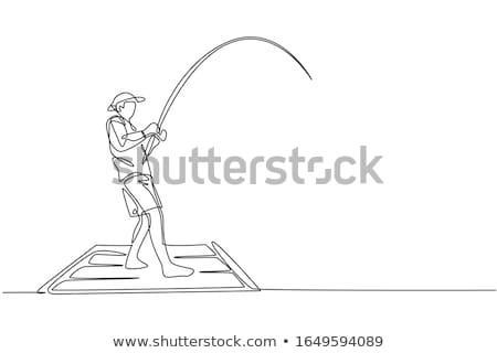 Fishing drawing Stock photo © stevanovicigor