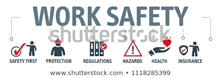 Stock photo: Business Concept. Safety Sign.