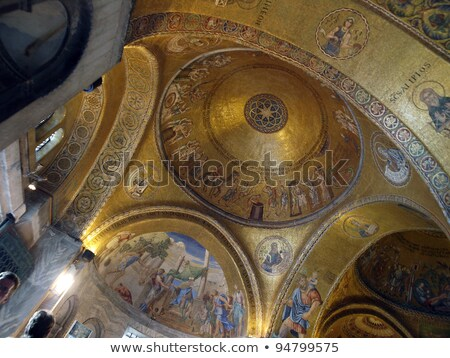 mosaic at the entrance of the Cathedral of St. Mark in Venice. Stock photo © Pilgrimego