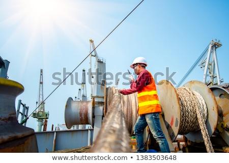 Ship mooring at port Stock photo © Hofmeester