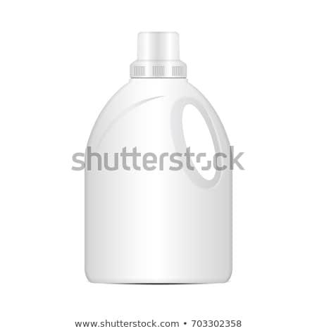 Szennyes mosószer üveg izolált kék Stock fotó © njnightsky