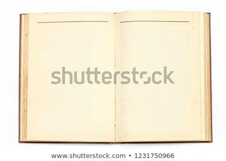 古い ヴィンテージ 画像 開いた本 紙 図書 ストックフォト © tungphoto