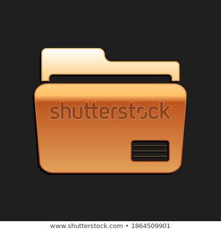 Negro oficina carpeta documentos símbolo contabilidad Foto stock © cherezoff