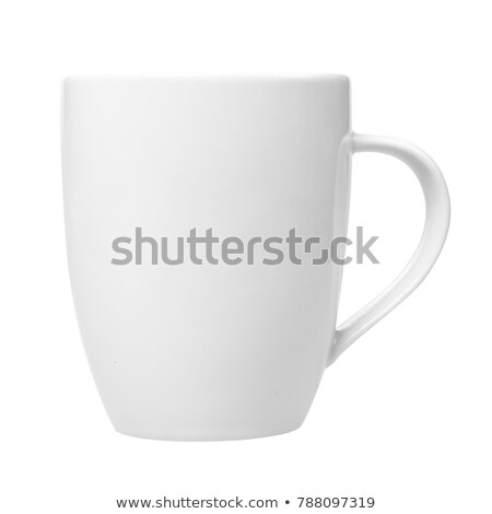 Empty ceramic coffee cup isolated on white Stock photo © Escander81