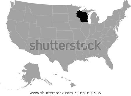 Harita Amerika Birleşik Devletleri Wisconsin dışarı siyasi tüm Stok fotoğraf © Istanbul2009