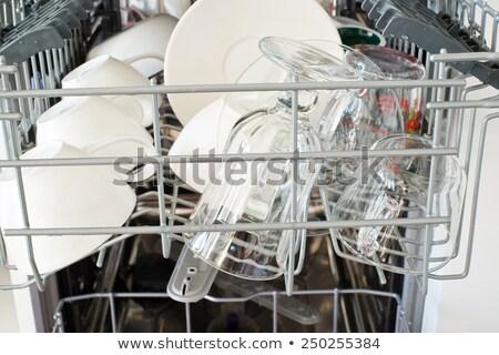 посудомоечная машина очистки процесс пластин очки Сток-фото © franky242