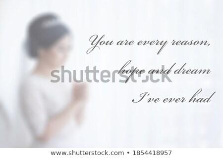 Belo dia dos namorados cartão coração 14 texto Foto stock © bharat