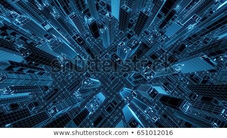 terv · sötét · kék · nyomtatott · stílus · padló - stock fotó © tashatuvango