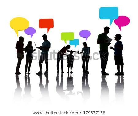 konuşma · insanlar · balonlar · vektör · adam · soyut - stok fotoğraf © burakowski