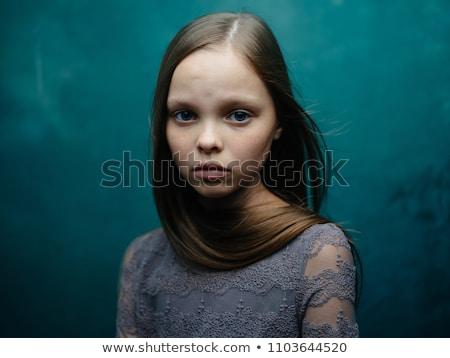 Triste jeune fille aire de jeux bébé art hiver Photo stock © FOTOYOU