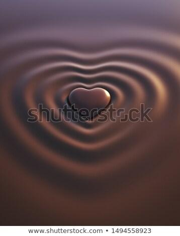 Renkli kalp dalgalar vektör grafik Stok fotoğraf © LittleLion