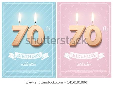 Burning birthday candles number 70 Stock photo © Zerbor