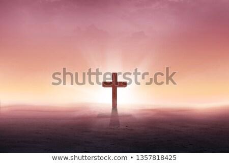 Dawn Dune Cross Stock photo © rghenry