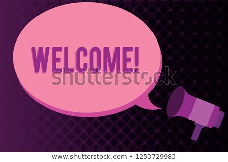 Stock photo: showing way to someone - welcome! come on in!