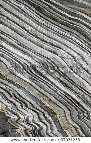 Természetes csíkos kő Cornwall absztrakt minta Stock fotó © latent