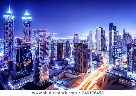 dubai downtown night scene with city lights stock photo © bloodua