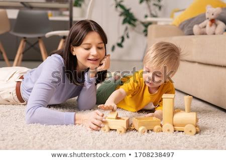 Nino jugando madre casa amor diversión Foto stock © bmonteny