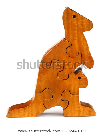puzzle blocks make a kangaroo stock photo © bdspn
