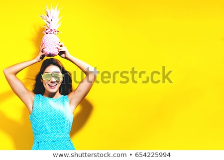 Trendy attractive young girl in shutter shades Stock photo © stryjek