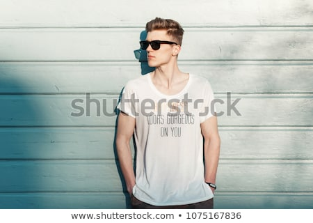 Handsome fashion man looking at you Stock photo © feedough