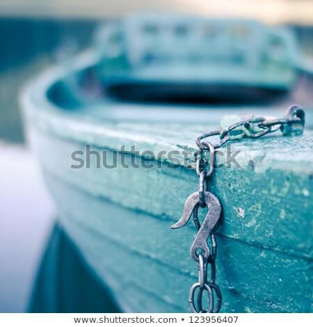 kürek · çekme · tekne · renkli · çakıl · plaj · duvar - stok fotoğraf © olandsfokus