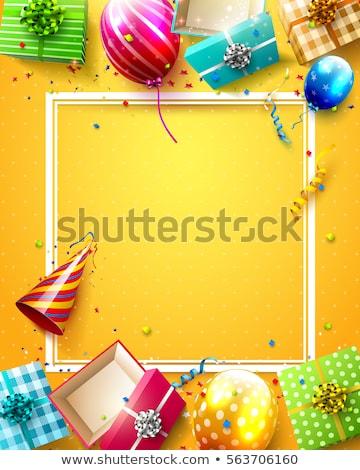 Stok fotoğraf: Renk · tasarım · şablonu · balon · örnek · eğim