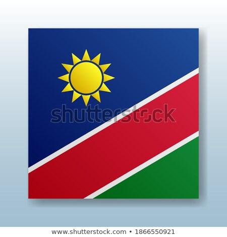 zászló · Namíbia · fehér · papír · háttér · sivatag - stock fotó © mayboro1964