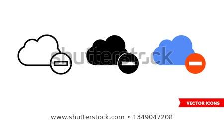 bulut · basit · ikon · yalıtılmış · beyaz - stok fotoğraf © tkacchuk