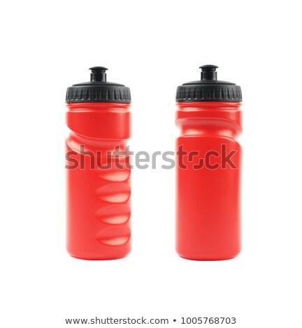 Foto stock: Dois · plástico · garrafas · isolado · branco · corpo