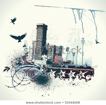 stedelijke · vector · illustrator · grunge · stijl - stockfoto © oblachko