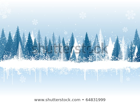 Stock photo: Digitally generated blue snow flake