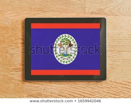 Tabletta Belize zászló kép renderelt mű Stock fotó © tang90246