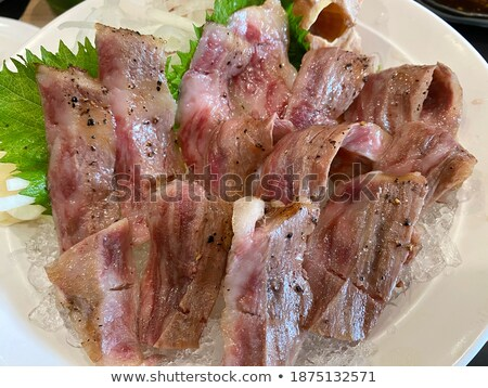 slide beef on the grill in japanese restaurant. Stock photo © art9858
